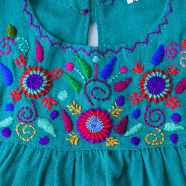 Jardinita Dress - Teal