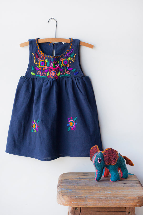 Jardinita Dress - Navy