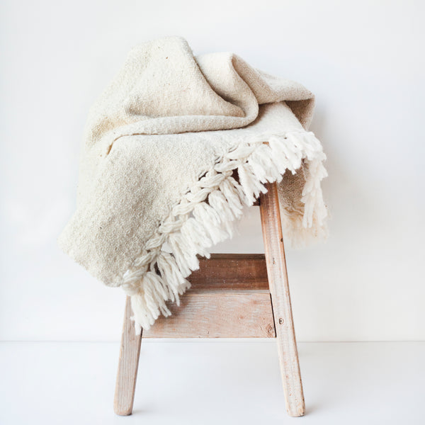 CHIAPAS Wool Throw - Oatmeal