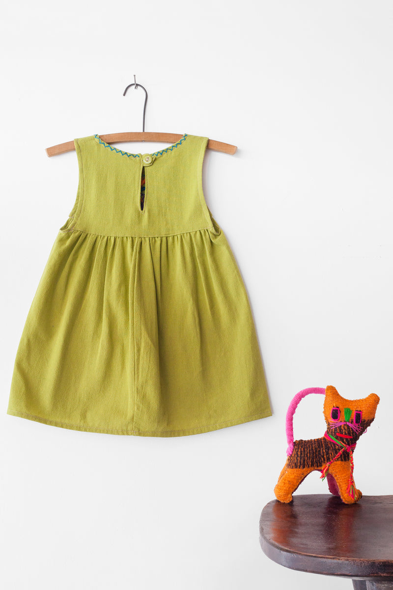 Jardinita Dress - Lime Green