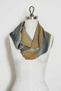 Bamboo Infinity Scarf - Blue to Gold