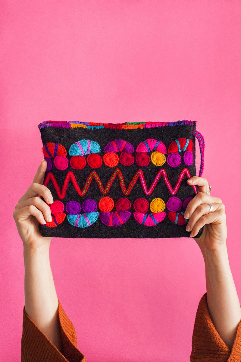 CHIAPAS Wool Clutch