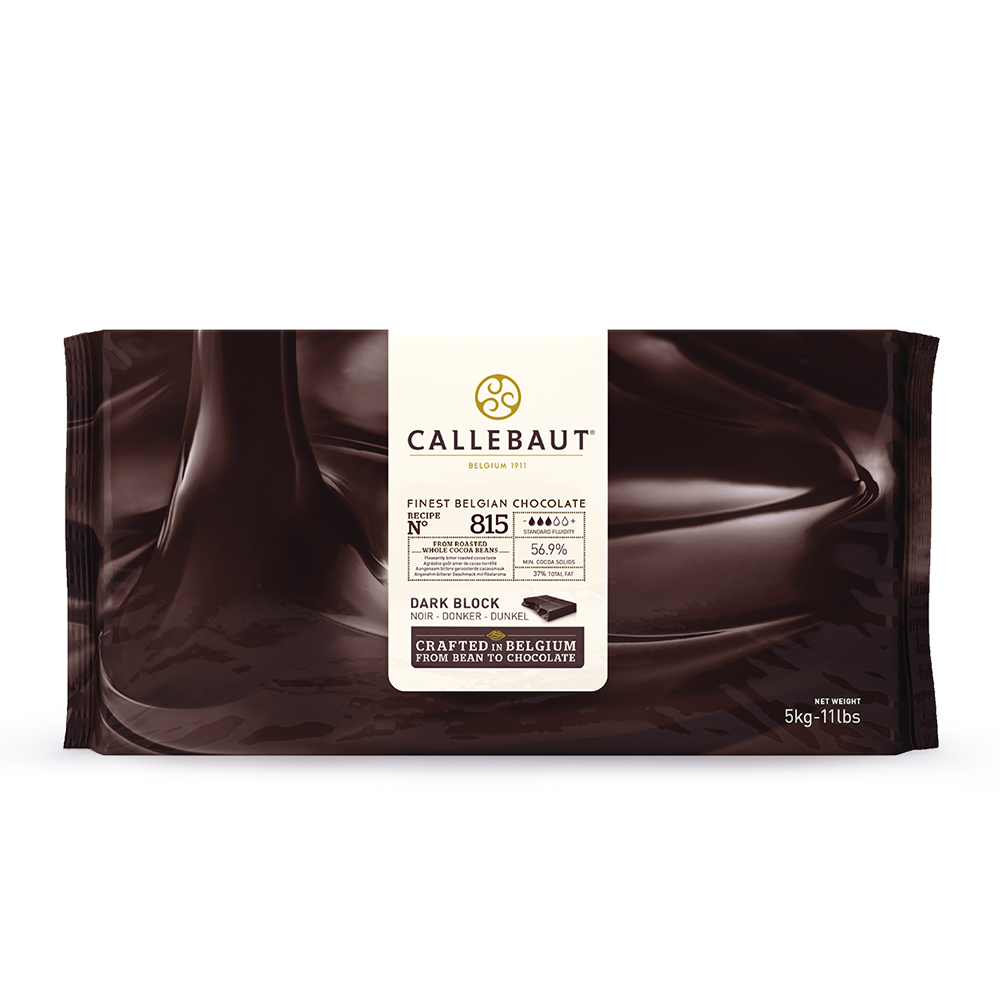 Callebaut (Belgium) Dark Chocolate 56.9%, 815 - 5kg Block
