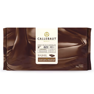 823 Milk chocolate 33.6%, finest Belgian chocolate, Callebaut Belgium, 5 kg block
