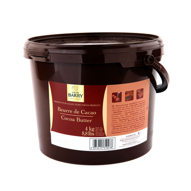 Pure cocoa butter, Cacao Barry France, 4 Kg Bucket