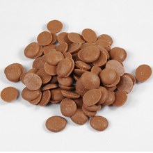 Load image into Gallery viewer, Alunga Purity milk chocolate couverture 41%, Cacao Barry France, 5 Kg Coins, pistoles