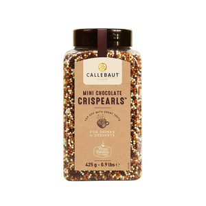 Mini Crispearls, Crispy Cereals Coated with a Mix of Chocolate, Callebaut Belgium, 425 gr sprinkler pack