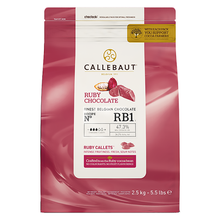 Load image into Gallery viewer, Callebaut (Belgium) RUBY Chocolate 47.3%, 2.5kg Coins