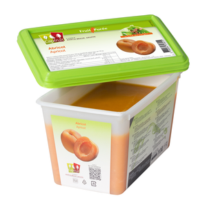 Apricot frozen fruit puree, Capfruit France, 1 Kg Tub