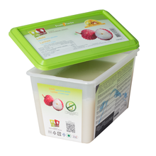 Load image into Gallery viewer, Lychee frozen fruit puree, Capfruit France, 1 Kg Tub