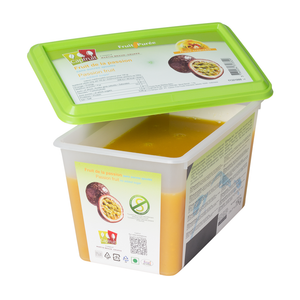 Passion fruit frozen fruit puree, Capfruit France, 1 Kg Tub