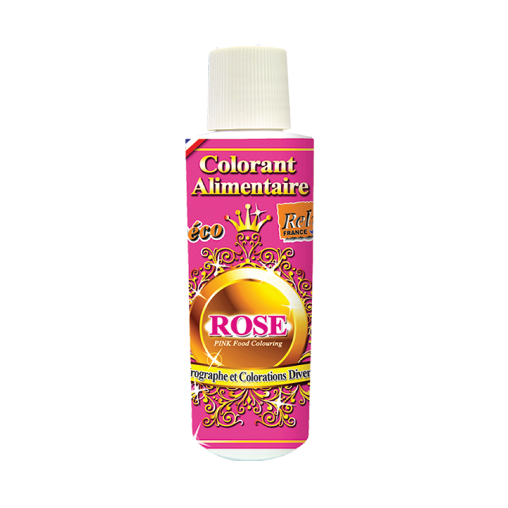 Deco Relief (France) Water Base Highly Concentrated Food Colorant PINK - 125ml Bottle