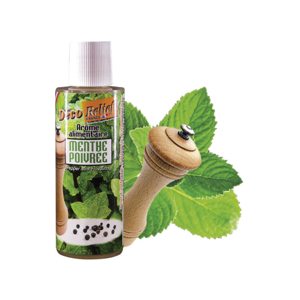 Deco Relief (France) Concentrated Aroma PEPPER MINT - 125ml bottle