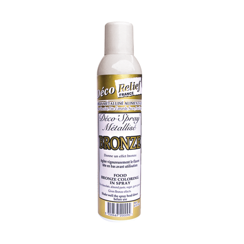 Deco Relief (France) Food Spray with Metalic colouring effect BRONZE - 405ml