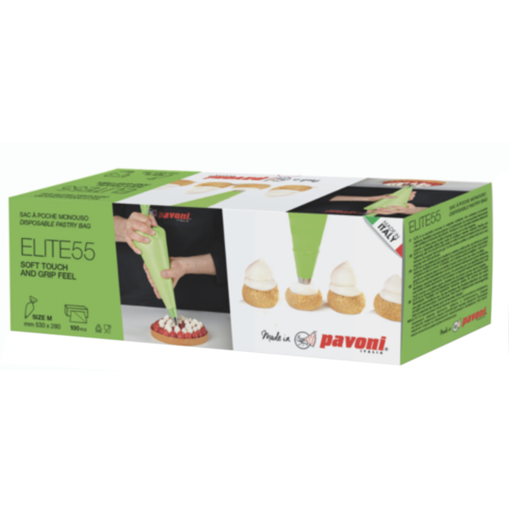 Pavoni (Italy) Disposable Pastry Bag ELITE55 - 100pcs Box