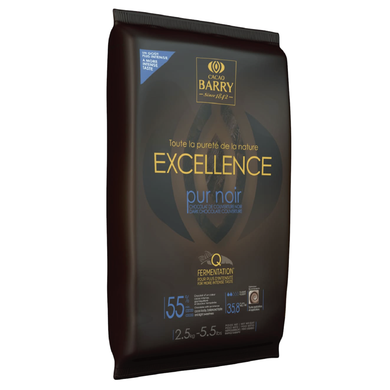 Excellence Purity dark chocolate couverture 55%, Cacao Barry France, 2.5 Kg block