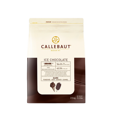 ICE Dark chocolate 56.4%, Callebaut Belgium, 2.5 kg Coins, callets