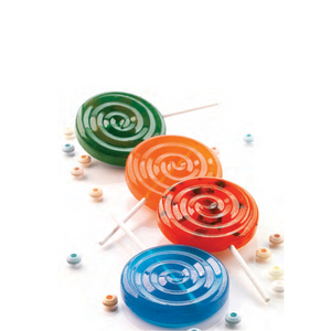 "Silicon Mould ""Lolli Pop"" Set With Sticks"