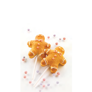 "Silicon Mould ""Ginger Pop"" Set With Sticks"