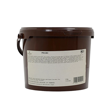 PRA CLASS  hazelnut praline paste, nut based filling, Callebaut Belgium, 5 kg bucket
