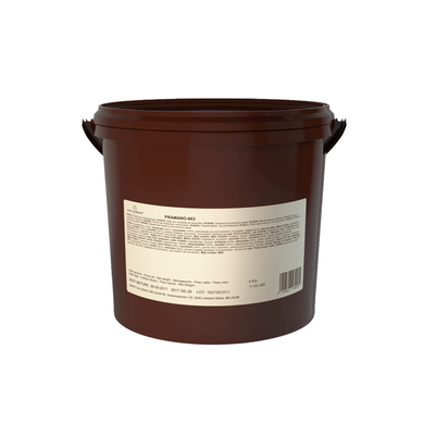 PRAMANO almond and hazelnut praline paste, nut based filling, Callebaut Belgium, 5 kg bucket