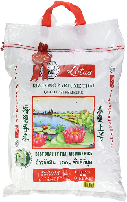 Riz thaï long grain parfumé - lotus - 5 KG
