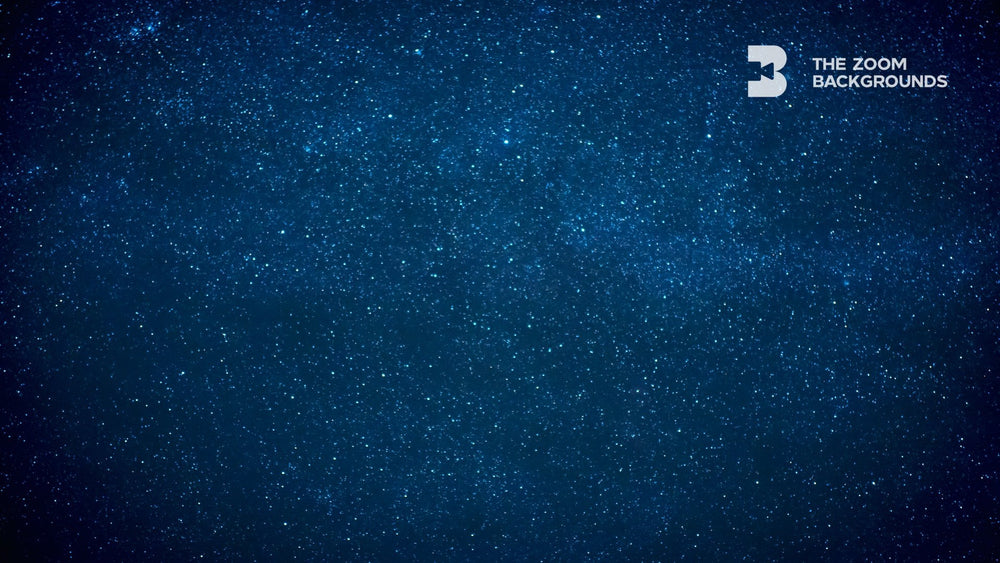 Load image into Gallery viewer, Stars On Blue Dark Night Sky Zoom Backgrounds