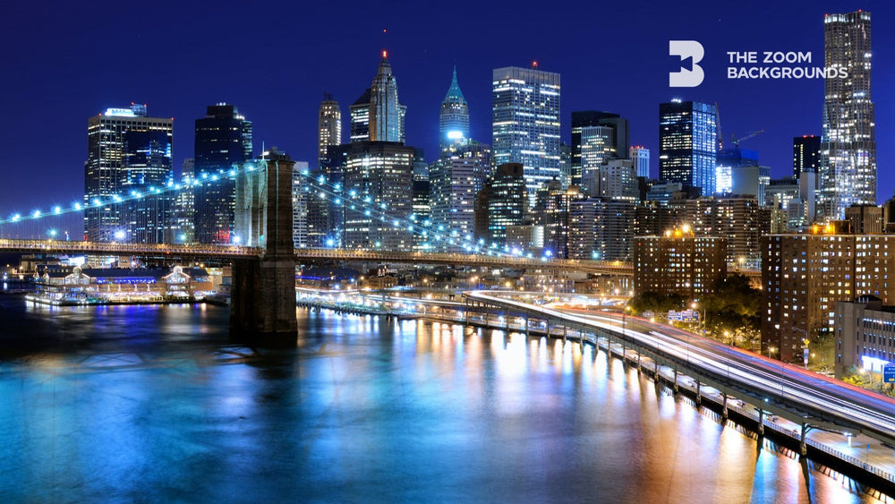 Night View Of New York City Zoom Backgrounds