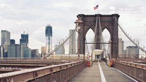 Load image into Gallery viewer, Walking Across the Brooklyn Bridge Zoom Backgrounds