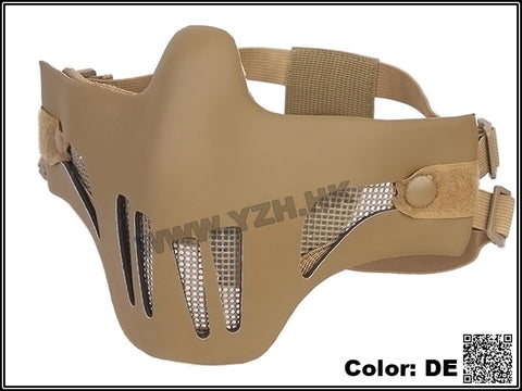 Emerson Tactical Polymer Mesh Vented Half Mask (Tan)