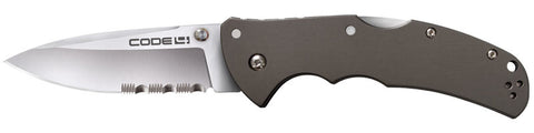 Cold Steel Code-4 Spear Point Half Serrated