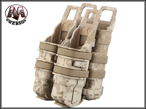 EMERSON Fastmag Rifle+Pistol Magazine Pouch Desert Digital