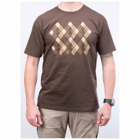 5.11 Pistol Prep Logo T Shirt - Chocolate