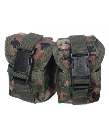 UTG WEB DOUBLE PINEAPPLE GRENADE POUCH IN WOODLAND