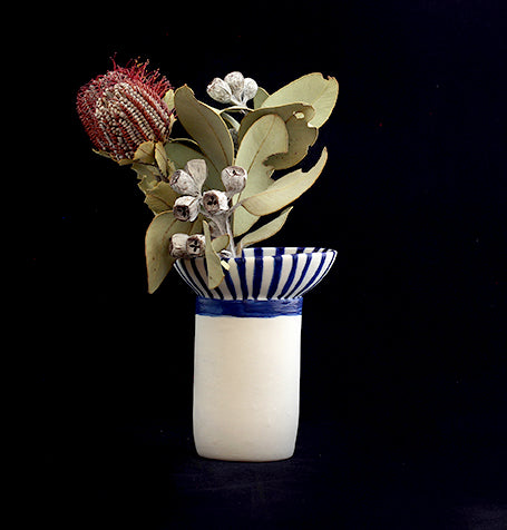 'Assemblage #4' porcelain vase by Lucile Sciallano