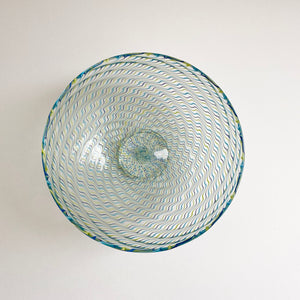 Glass 'Ripple' bowl by Benjamin Edols
