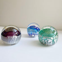 Load image into Gallery viewer, Glass paperweights (various colours) by Brian Hirst
