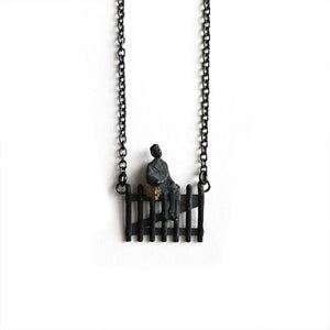 'Sitting on the fence' pendant by Taë Schmeisser