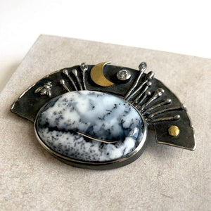 'Summertime' brooch by Rita Winkler