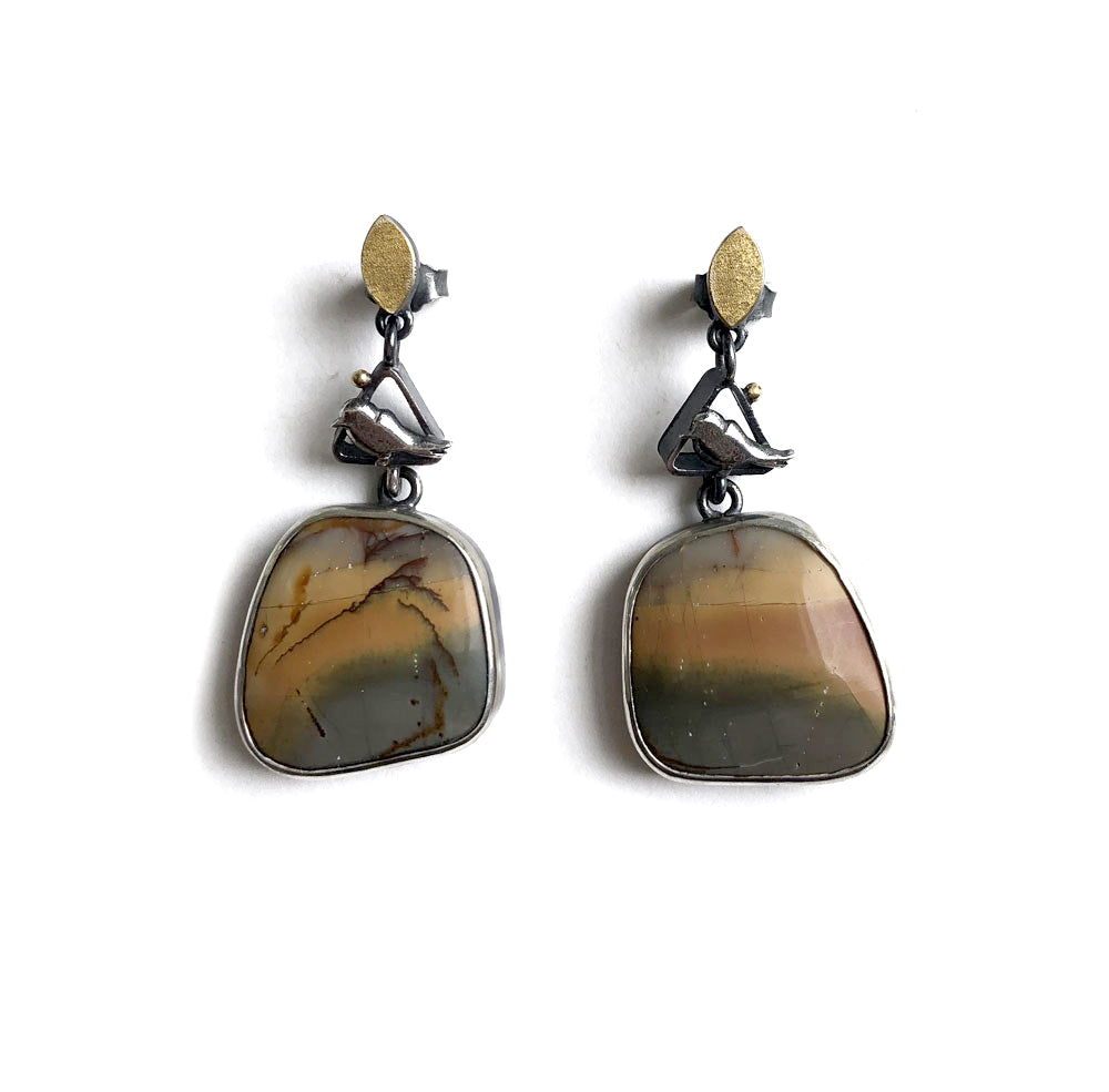 'Magpies' earrings by Rita Winkler
