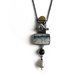 'The Magpie' pendant by Rita Winkler