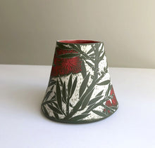 Load image into Gallery viewer, 'Crimson Bottlebrush' porcelain vase by Cathy Franzi