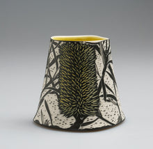Load image into Gallery viewer, 'Silver Banksia' porcelain vase by Cathy Franzi