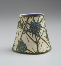 Load image into Gallery viewer, 'Blue Devil' porcelain vase by Cathy Franzi