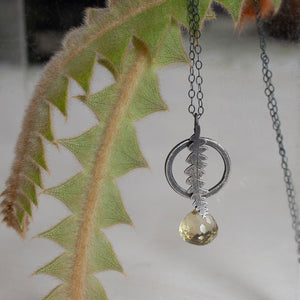 'Banksia circle' pendant by Robin Wells