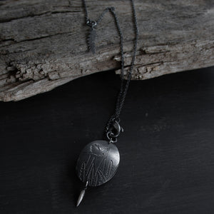 'Banksia and bird' pendant by Robin Wells