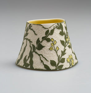 'Wedge-leaved wattle' porcelain vase by Cathy Franzi