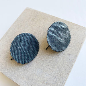 'Woven' earrings by Leslie Matthews
