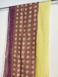 Silk, linen and wool scarf by Jennifer Robertson