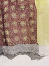 Load image into Gallery viewer, Silk, linen and wool scarf by Jennifer Robertson